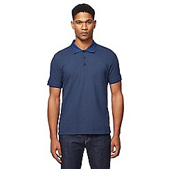 Ben Sherman - Navy arrow print polo shirt