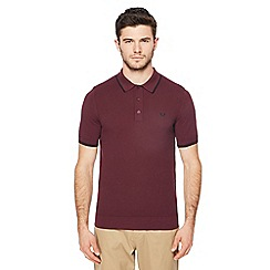 Fred Perry - Maroon knitted polo shirt