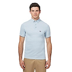 Fred Perry - Light blue Oxford pique polo shirt