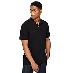Jacamo - Black pique polo shirt