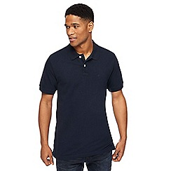 Jacamo - Navy pique polo long shirt
