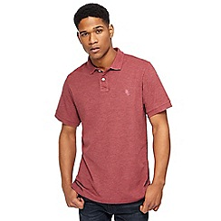 Jacamo - Big and tall dark red pique polo shirt