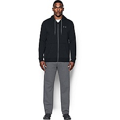 Under Armour - Blue rival fleece cotton blend full zip hooded warm up top