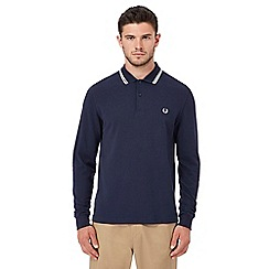 Fred Perry - Navy embroidered polo shirt