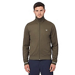 Fred Perry - Khaki embroidered logo jacket