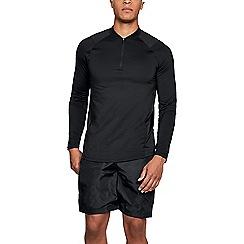 Under Armour - Black 'HeatGear® MK-1' zip t-shirt