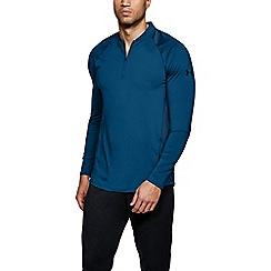Under Armour - Blue 'Heat Gear® MK-1' zip t-shirt