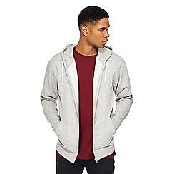 Jacamo - Big and tall grey zip through hoodie