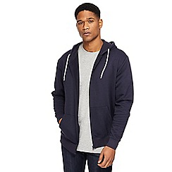 Jacamo - Big and tall navy zip through hoodie