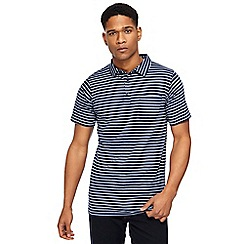 Jacamo - Navy striped polo shirt