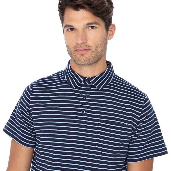 polo length shirt Big long navy tall striped Jacamo and 1q0FXwnX4