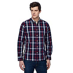 Jacamo - Big and tall navy checked shirt