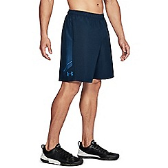 Under Armour - Navy blue graphic woven shorts