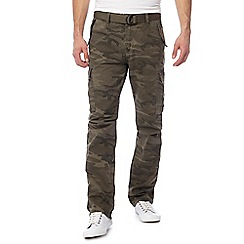 Jacamo - Big and tall khaki 'ambrose' camouflage cargo pants