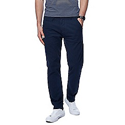Jacamo - Navy tapered fit regular leg chinos