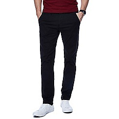 Jacamo - Big and tall black tapered fit regular leg chinos