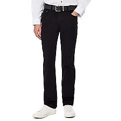 Jacamo - Black gabardine straight fit jeans