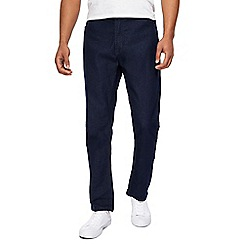 Jacamo - Big and tall dark blue slim fit short leg jeans