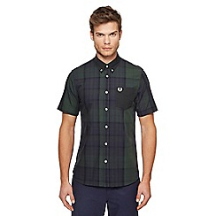 Fred Perry - Dark green checked shirt