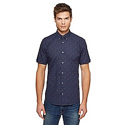 Ben Sherman - Navy printed shirt