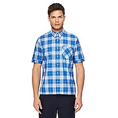 Fred Perry - Blue tartan checked shirt