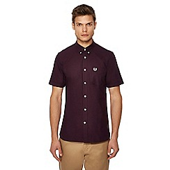 Fred Perry - Maroon short sleeve Oxford shirt