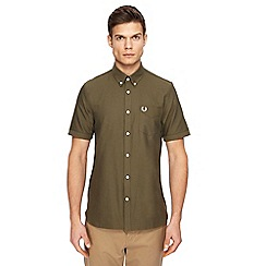 Fred Perry - Khaki short sleeve Oxford shirt