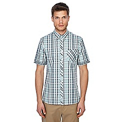 Fred Perry - Light green bold checked short sleeves shirt