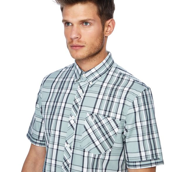 Perry Fred green short shirt Light bold sleeves checked Fd4Cqd