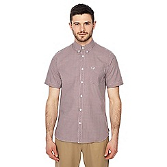 Fred Perry - Red gingham print short sleeve regular fit shirt