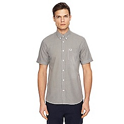 Fred Perry - Grey gingham print shirt