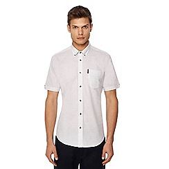 Ben Sherman - Big and tall white twisted stripe print short sleeve shirt