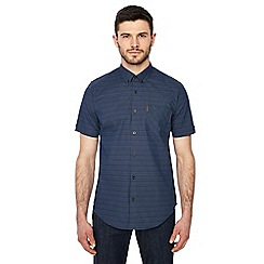 Ben Sherman - Big and tall navy printed regular fit shirt