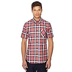 Ben Sherman - Red checked button down collar short sleeve regular fit shirt
