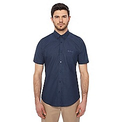 Ben Sherman - Big and tall dark blue printed short sleeves shirt