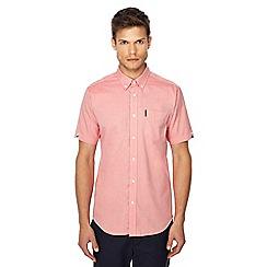 Ben Sherman - Pink button down collar regular fit short sleeve Oxford shirt