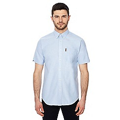 Ben Sherman - Big and tall navy regular fit short sleeve oxford shirt