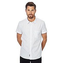 Jacamo - White spotted short sleeve regular fit shirt
