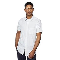 Jacamo - White spotted short sleeve regular fit long length shirt
