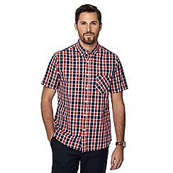 Jacamo - Red checked short sleeve regular fit shirt