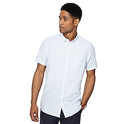 Ben Sherman - Blue stripe short sleeve Oxford shirt