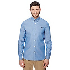 Fred Perry - Light blue plain tonic long sleeve shirt