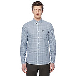 Fred Perry - Light blue gingham print shirt