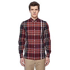 Fred Perry - Dark red checked shirt