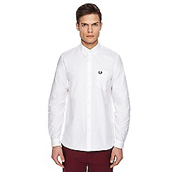 Fred Perry - White long sleeve Oxford shirt