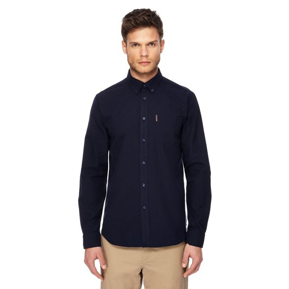 navy oxford Big and tall Ben Sherman shirt AzvAqS