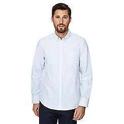 Jacamo - Light blue striped button down collar regular fit Oxford shirt