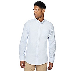 Jacamo - Blue stripe Oxford shirt