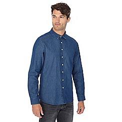 Jacamo - Big and tall dark blue denim shirt
