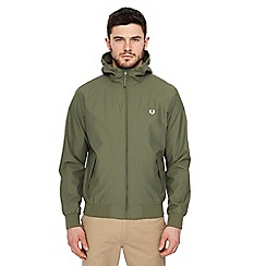 Fred Perry - Khaki hooded 'Brentham' jacket